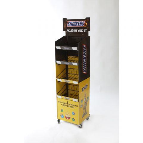 Tekerlekli Boy Stand -Çikolata Standı TMS23446413